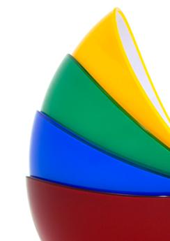 Eine freie Arbeit. Schalen als Farbfächer fotografiert