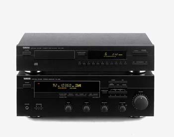 Eine Stereoanlage von Yamaha für den Yamaha-Prospekt aufgenommen.
